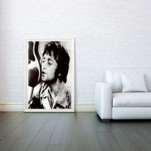 John Lennon, Imagine, Decorative Arts, Prints & Posters, Wall Art Print, Poster Any Size - Black and White Poster